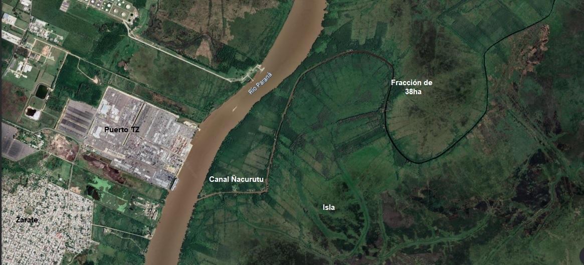 Vendo Isla de 38 hectáreas en el Canal Ñacurutú, Zárate