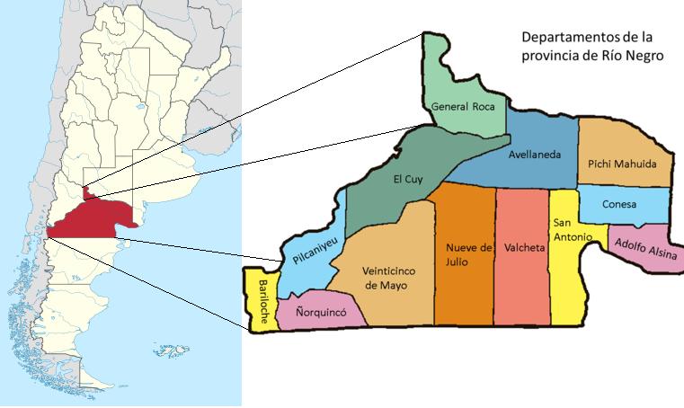 Pcia de Rio Negro - Algunos datos